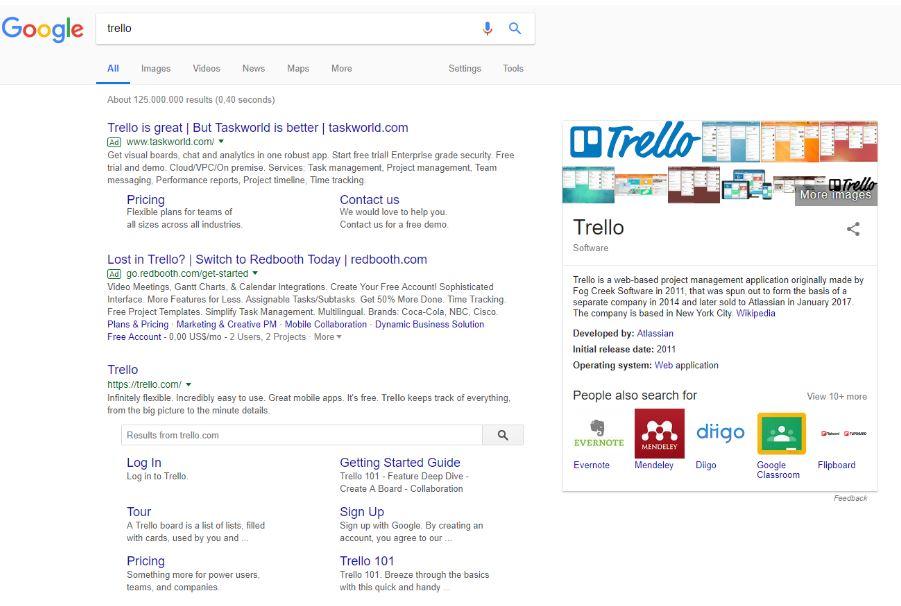 Google Ads søgning